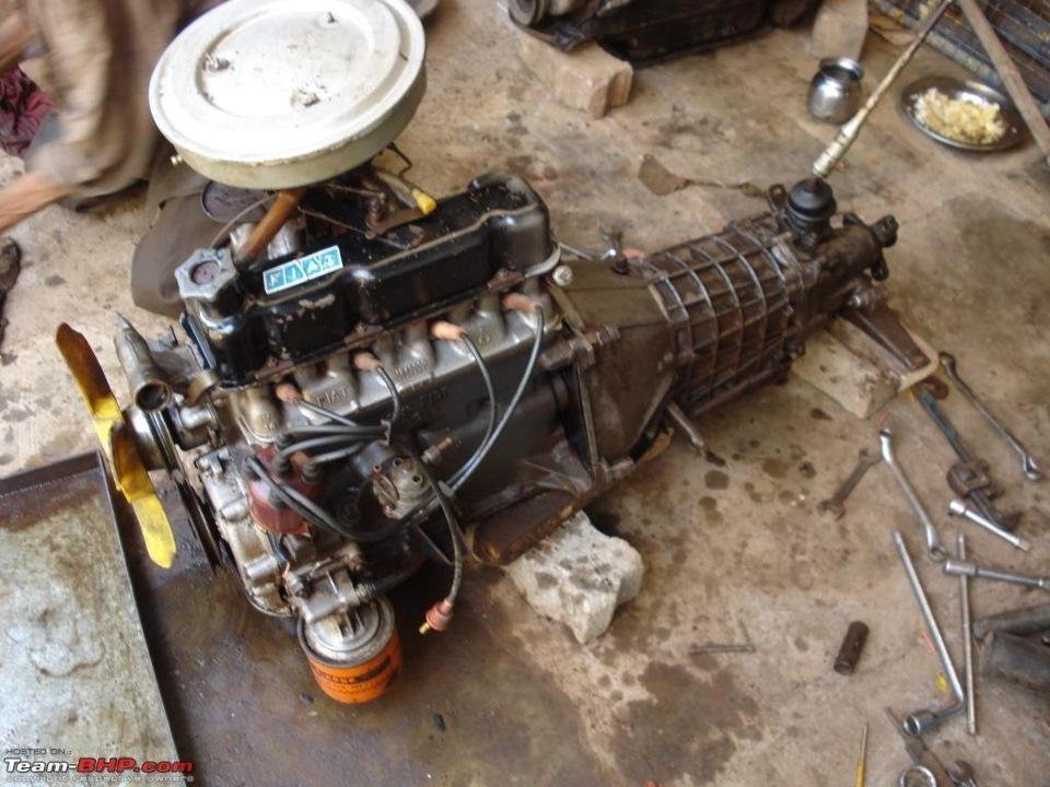 первый двигатель фиат-124