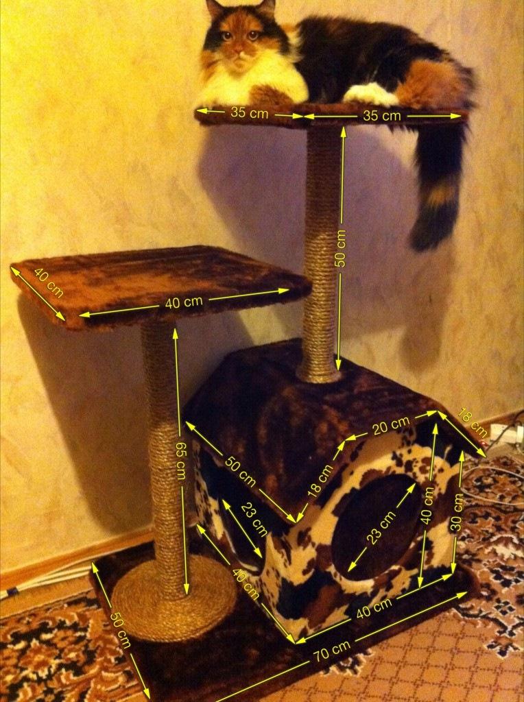 Когтеточка для кошек своими руками фото пошагово