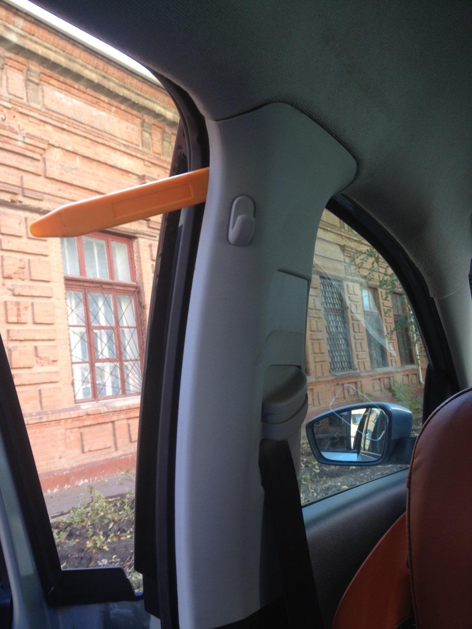фольксваген поло седан снятие потолка