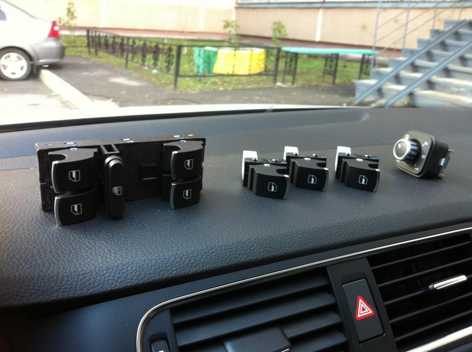 замена кнопок стеклоподъёмников на фольксвагене джетта