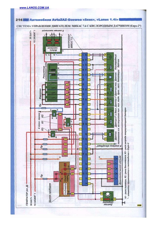 Заз сенс схема электрическая принципиальная схема