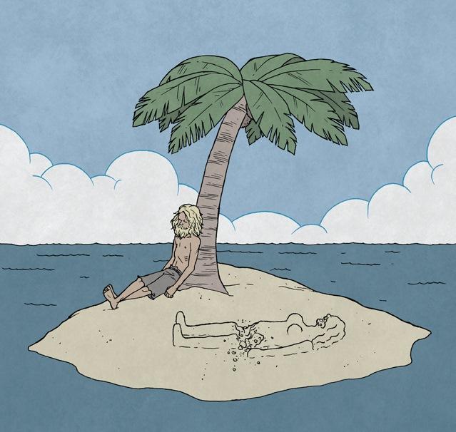 На необитаемом острове картинка