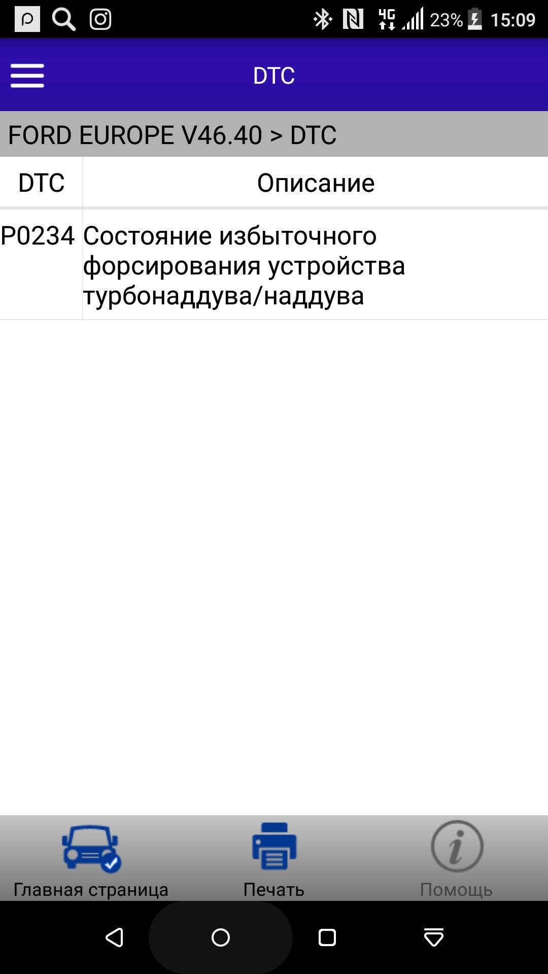 код ошибки p0234 ford