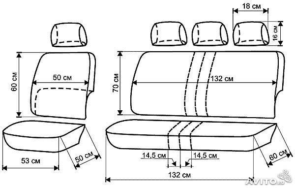 выкройка чехлов на фольксваген транспортер