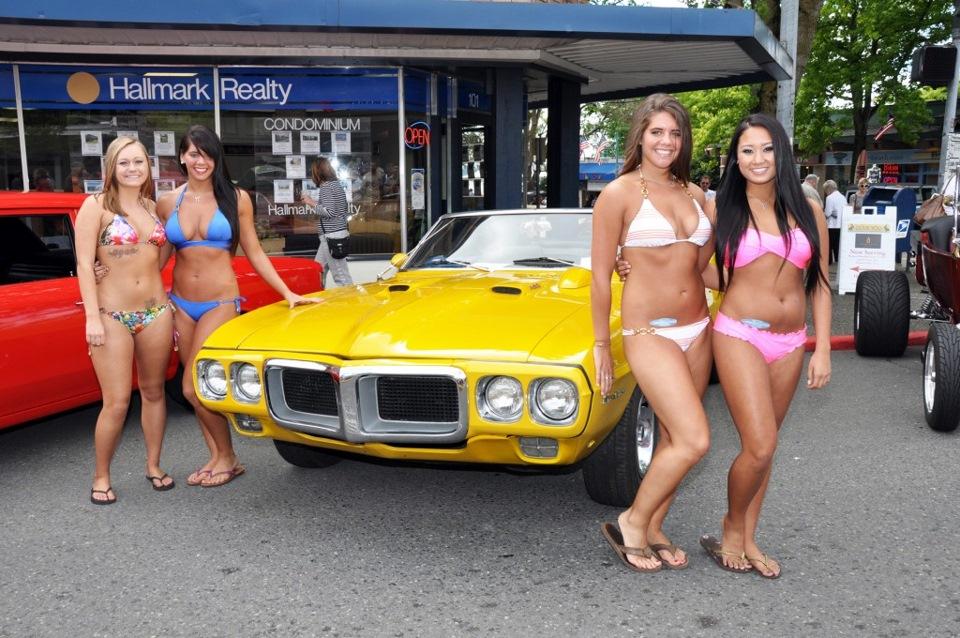 Lowrider car show bikini