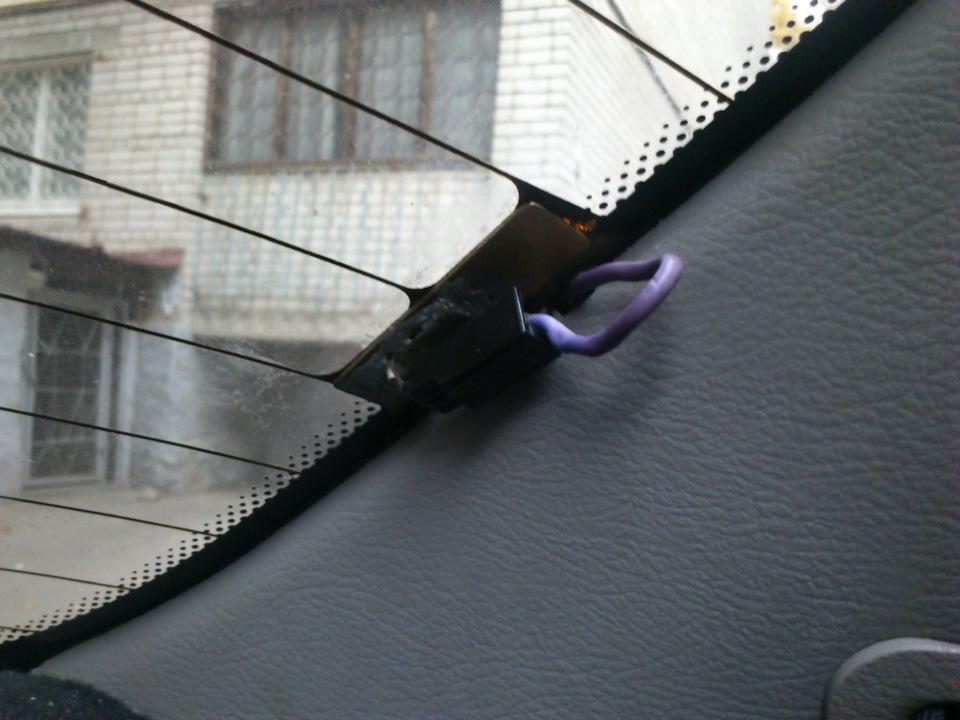 Как восстановить контакт обогрева заднего стекла авто