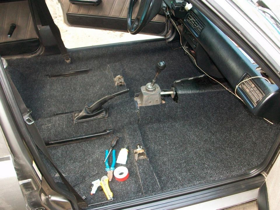 Перетяжка пола автомобиля