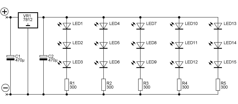 схема подключения стабилизатора в схему l7812