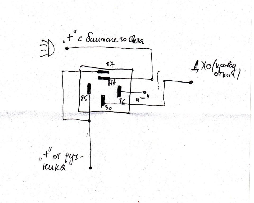 Схемка разрыва цепи провода