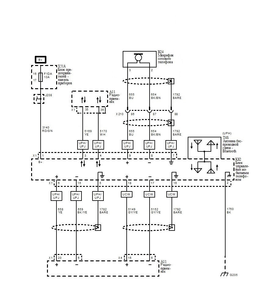 схема проводки опель инсигния