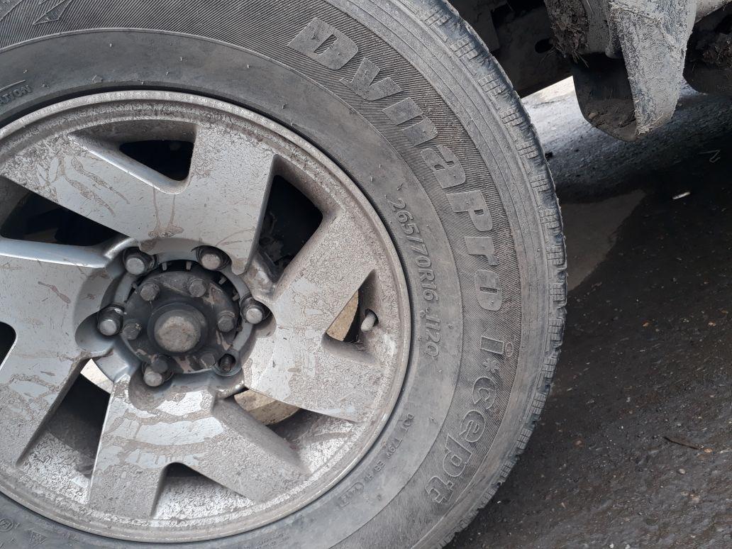 зимние экстремальные шины на mitsubishi pajero 2