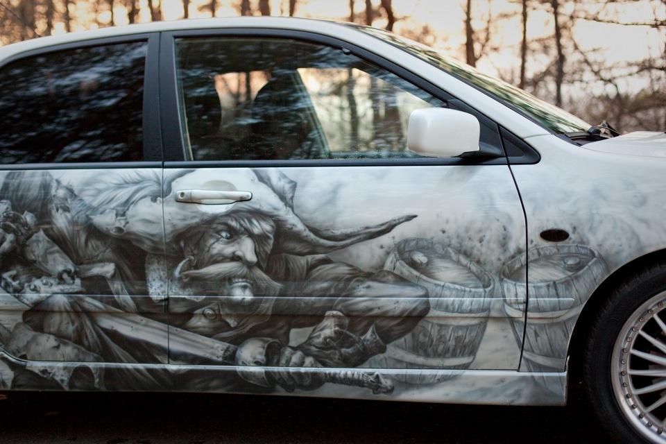 Рисунки на автомобилях аэрография своими руками