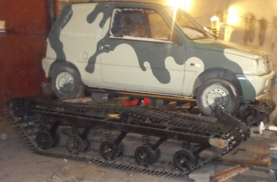 Сам авто на гусеницах своими руками 195