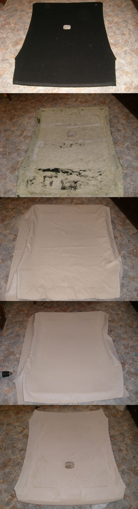 Перетяжка потолка тонкими материалами (на примере вельвета)