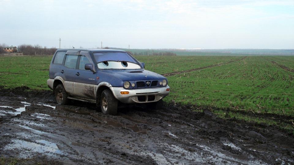 nissan terrano 2 шины грязевые