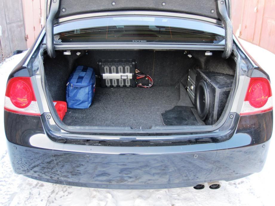 размер багажника honda civic 4d