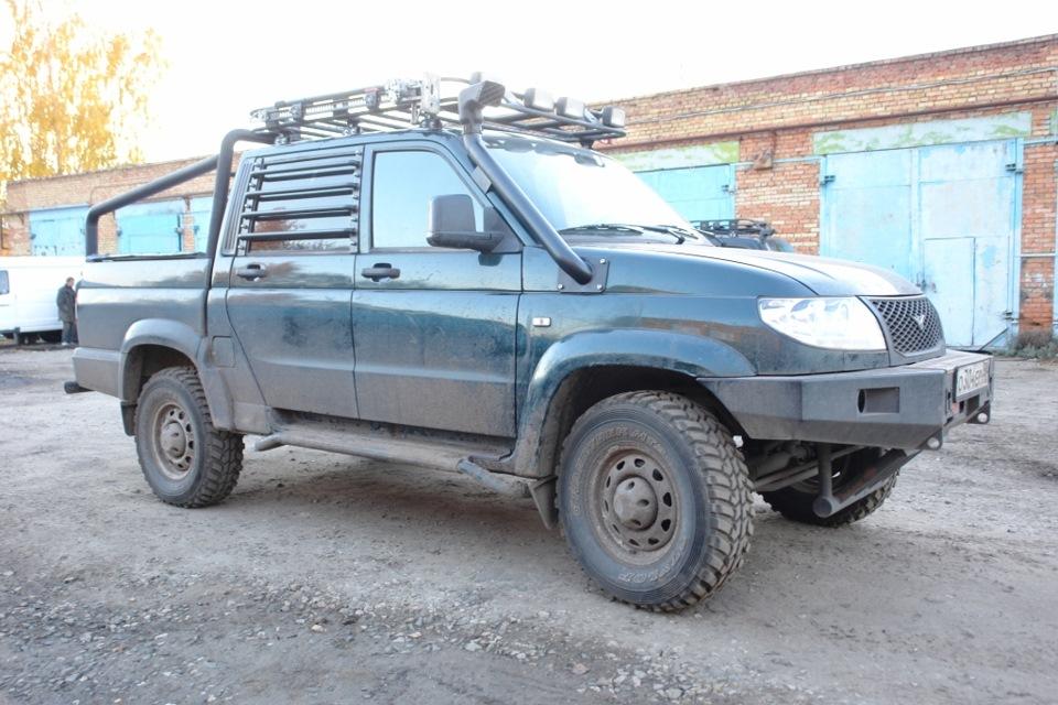 Шноркель и защита стекол на УАЗ Патриот - DRIVE2