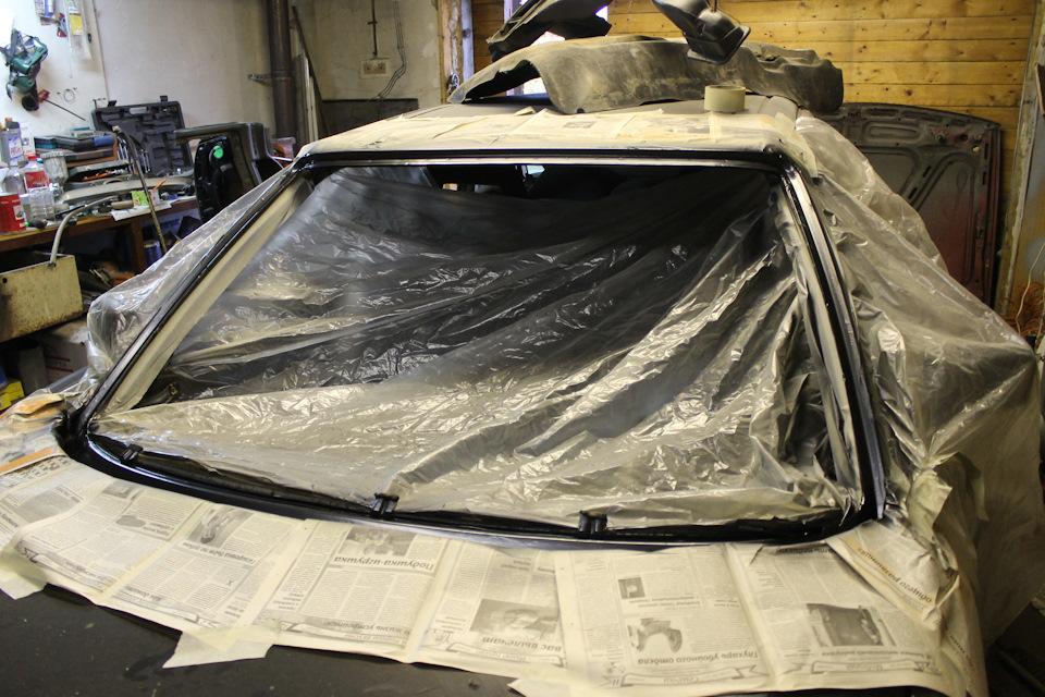 Замена лобового стекла ауди 80