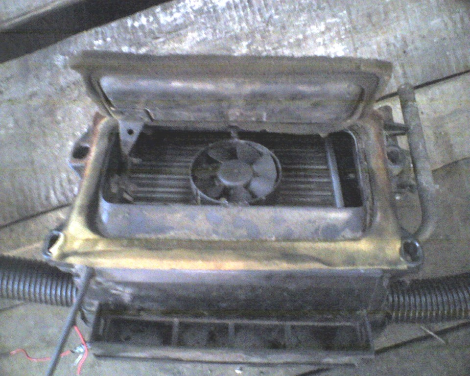 печка в оке зимой