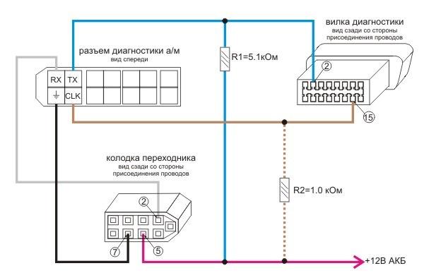 схема включения a56 nissan компьютер