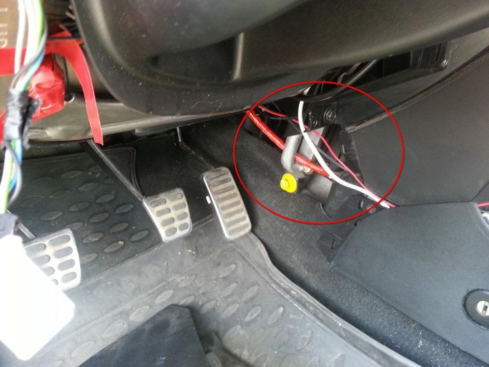Подсветка ног в автомобиле киа сид своими руками