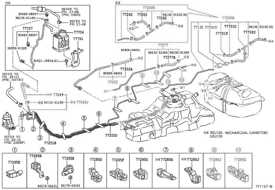 Схема toyota prado 120