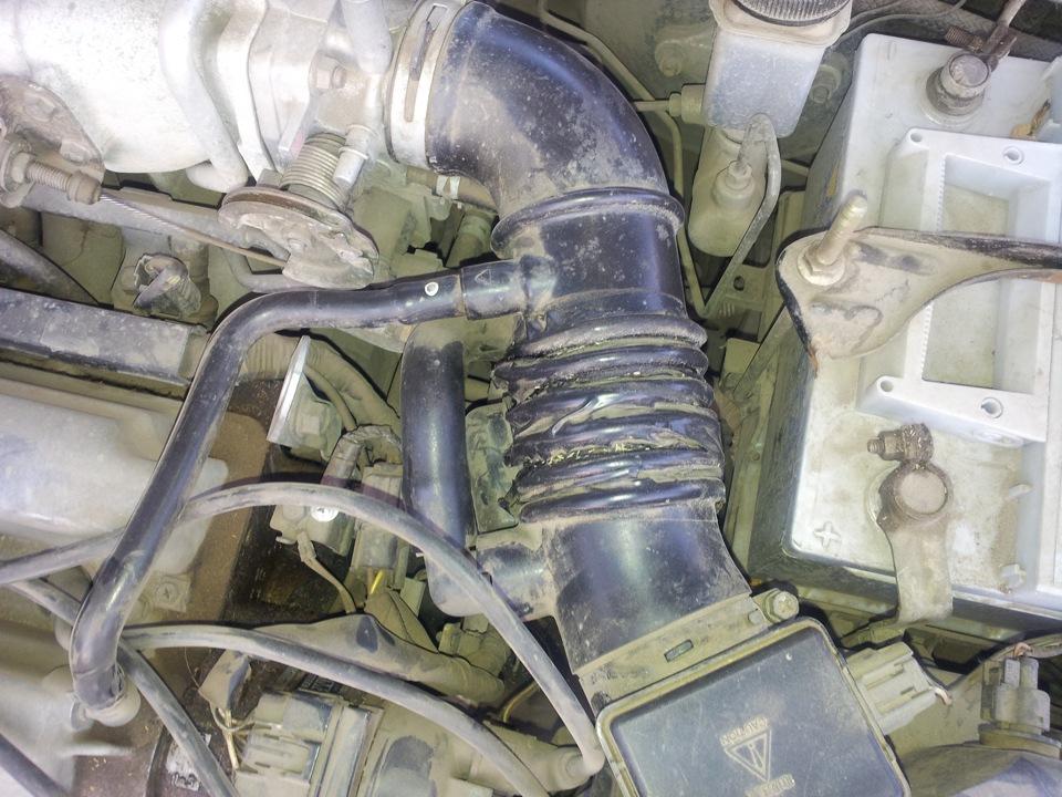 Ремонт гофры воздушного фильтра своими руками