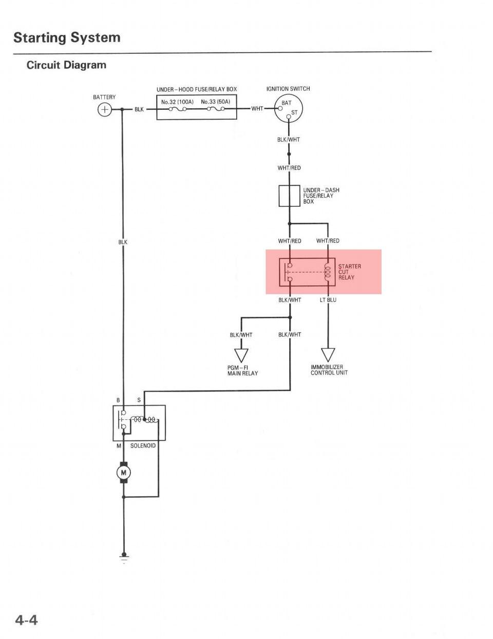 honda prelude схема проводки