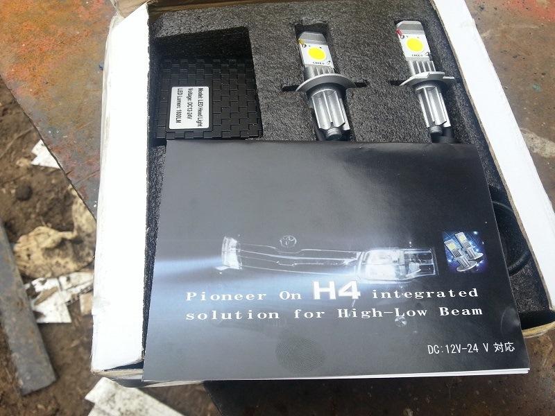 Установка светодиодных ламп в ближний свет