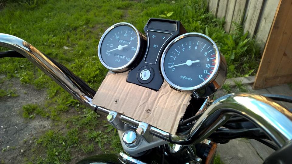 Приборная панель для мотоцикла своими руками 32