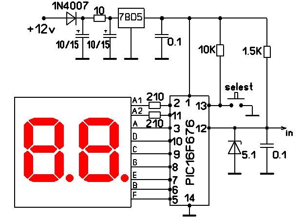 Индикатор уровня жидкости на светодиодах своими руками