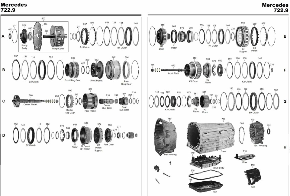 схема трубок охлаждения акпп на мерседес s350
