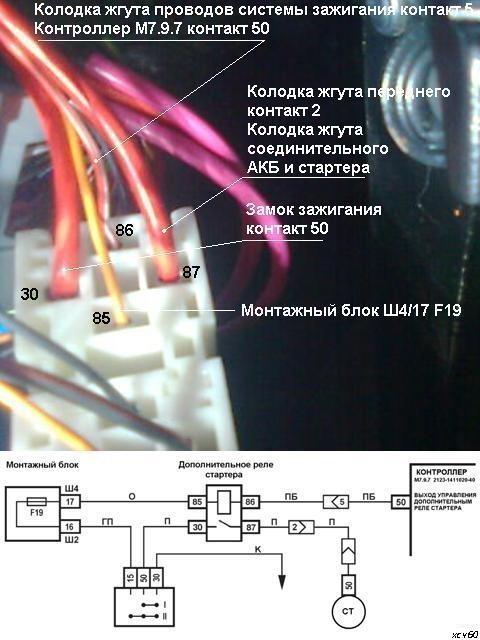 Схема подключения стартера нива шевроле фото 151