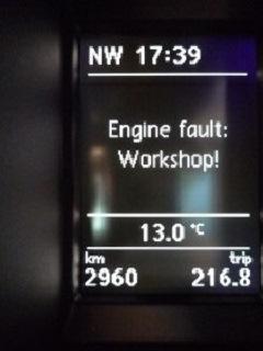 Датчик температуры выхлопных газов (G235) и Engine fault workshop