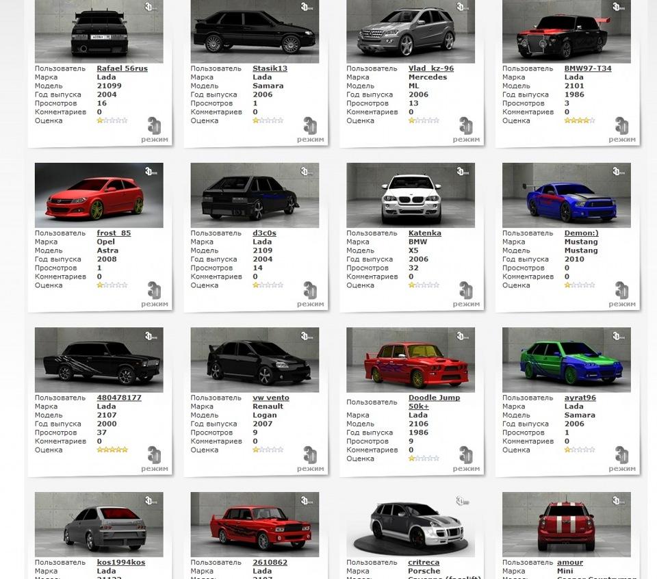 Simba85 блог виртуальный тюнинг авто