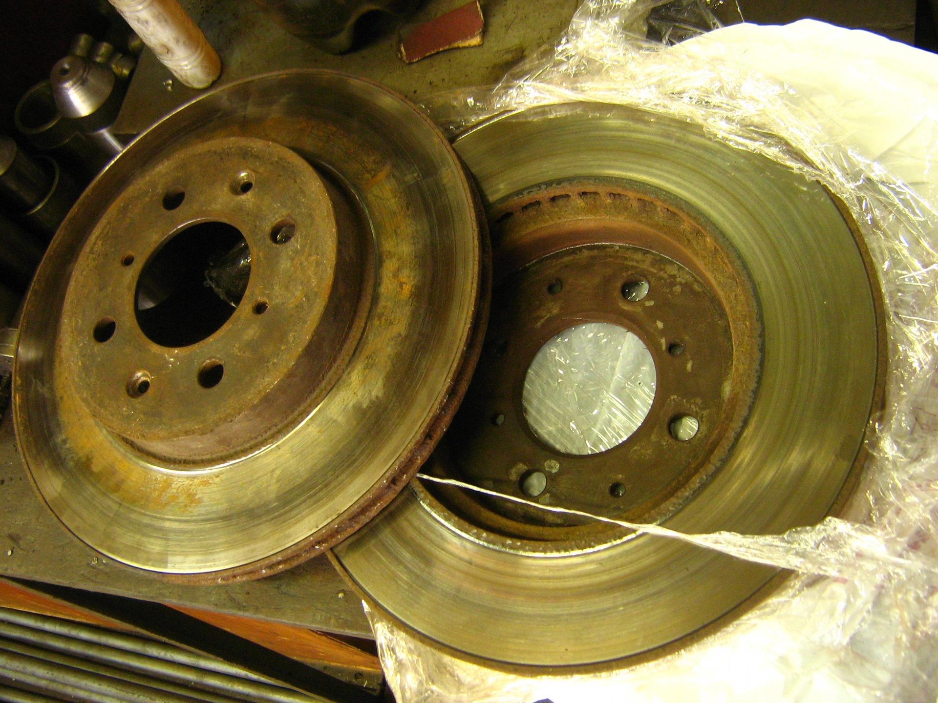 Проточка тормозных дисков без снятия болгаркой