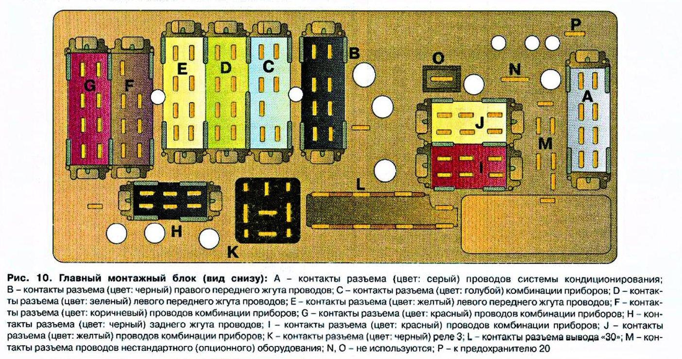 схема блоков релле ауди 80 б3