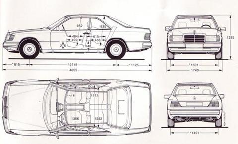 Схема Mercedes W124 купэ