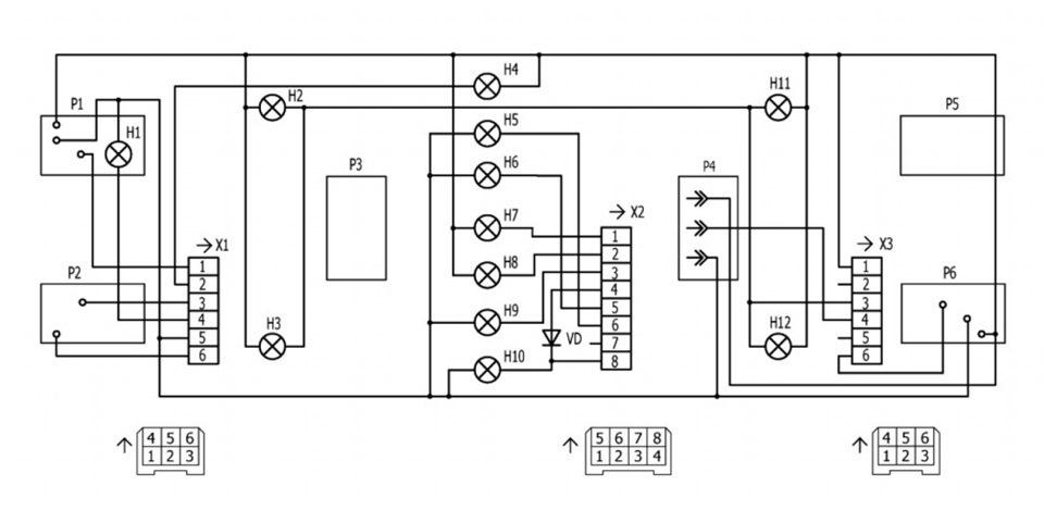 Схема КП 2107 инжектор.