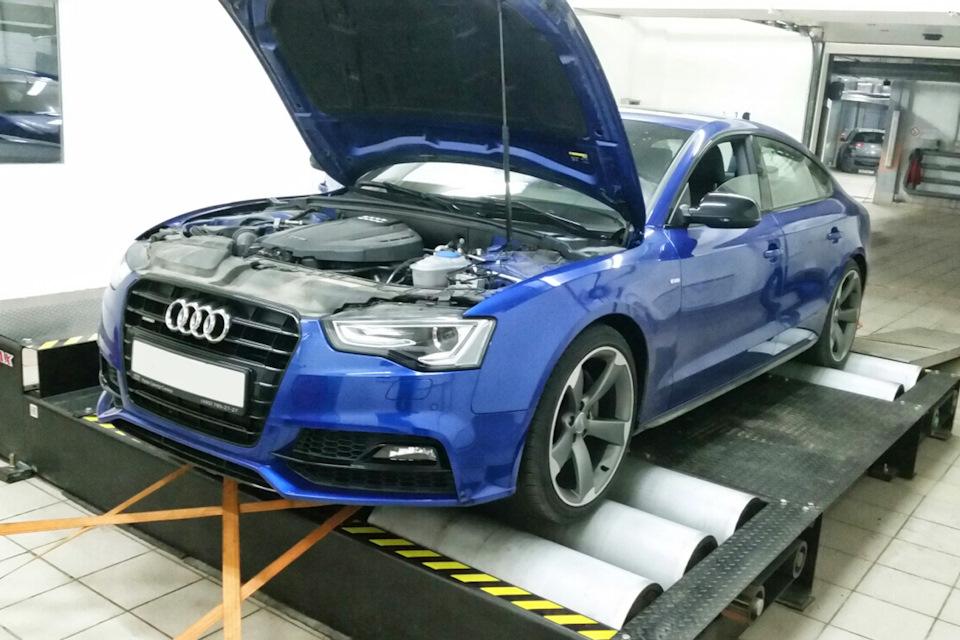 Замер мощности Audi A5
