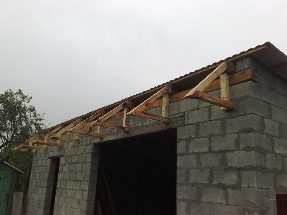Строим крыша гаража своими руками 17
