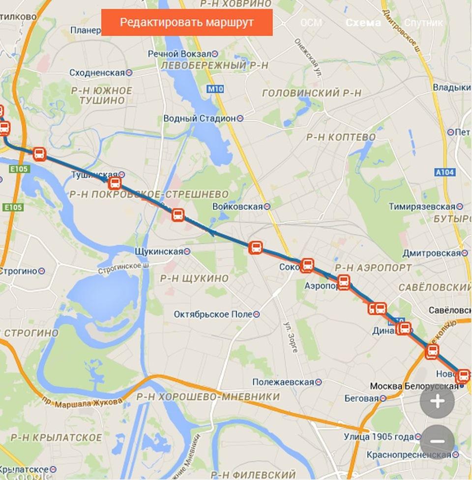 Автобус 905 расписание и маршрут на карте Москвы