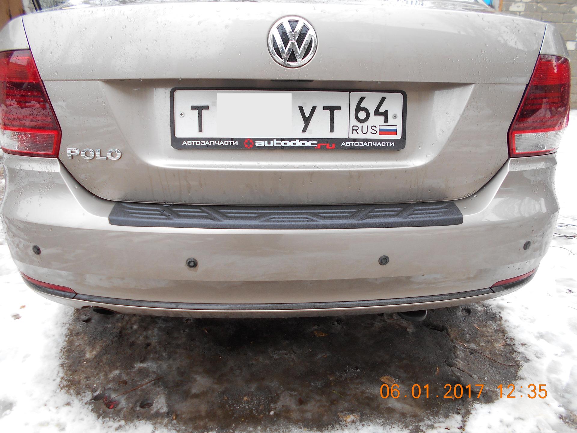 задний бампер для volkswagen polo sedan