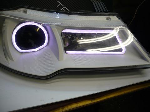 Daewoo Nexia N150. Светодиодные вставки в фары