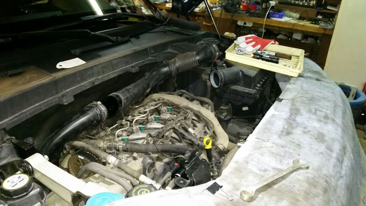 Замена коллекторных прокладок фрилендер Регулировка клапанов w210