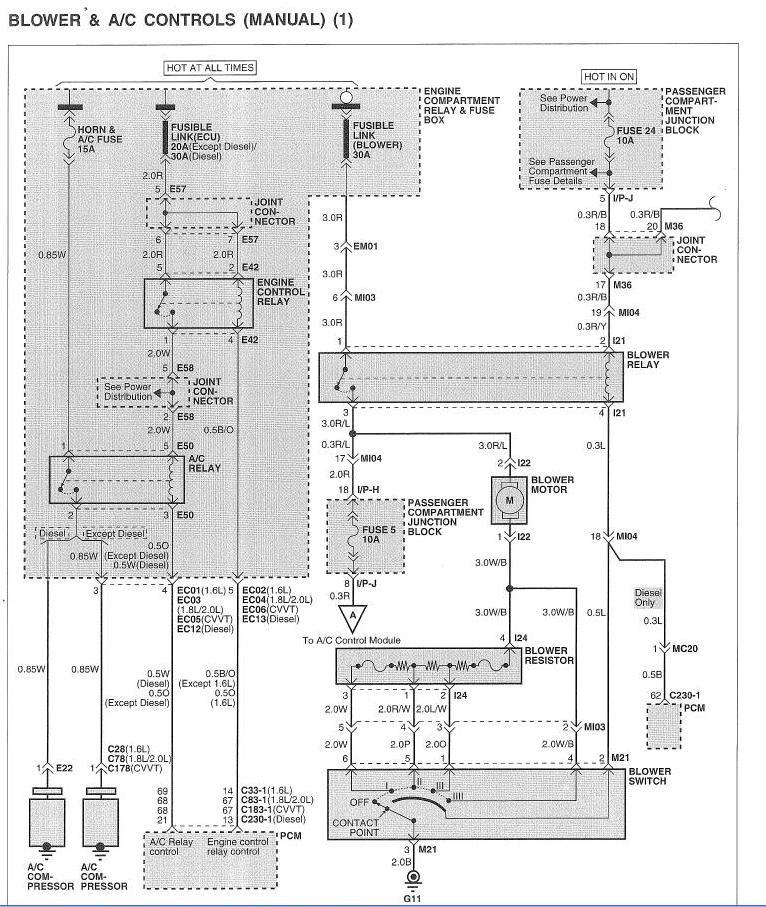 Электросхема штатного блока