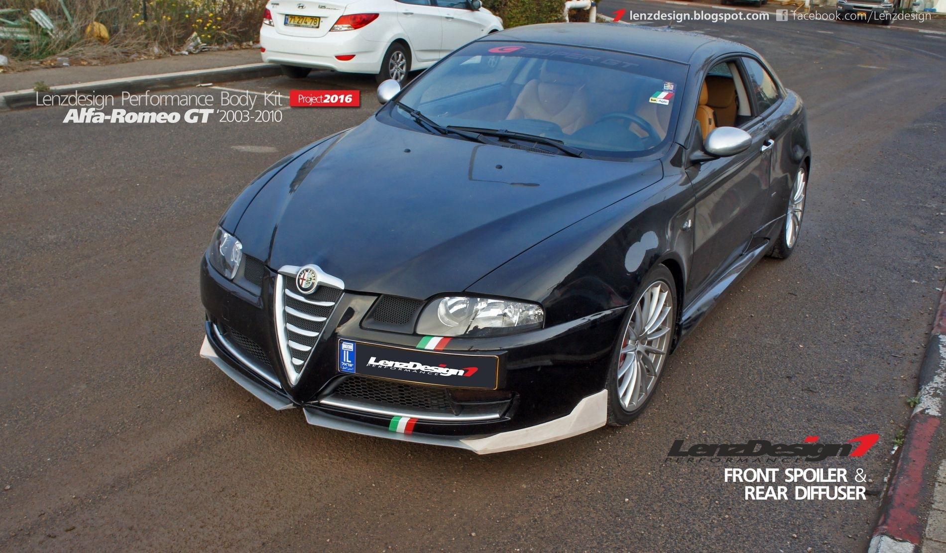 \u0422\u044e\u043d\u0438\u043d\u0433 Alfa Romeo GT \u2014 Front Spoiler \u0026 Rear Diffuser by Lenzdesign Performance \u2014 Lenzdesign