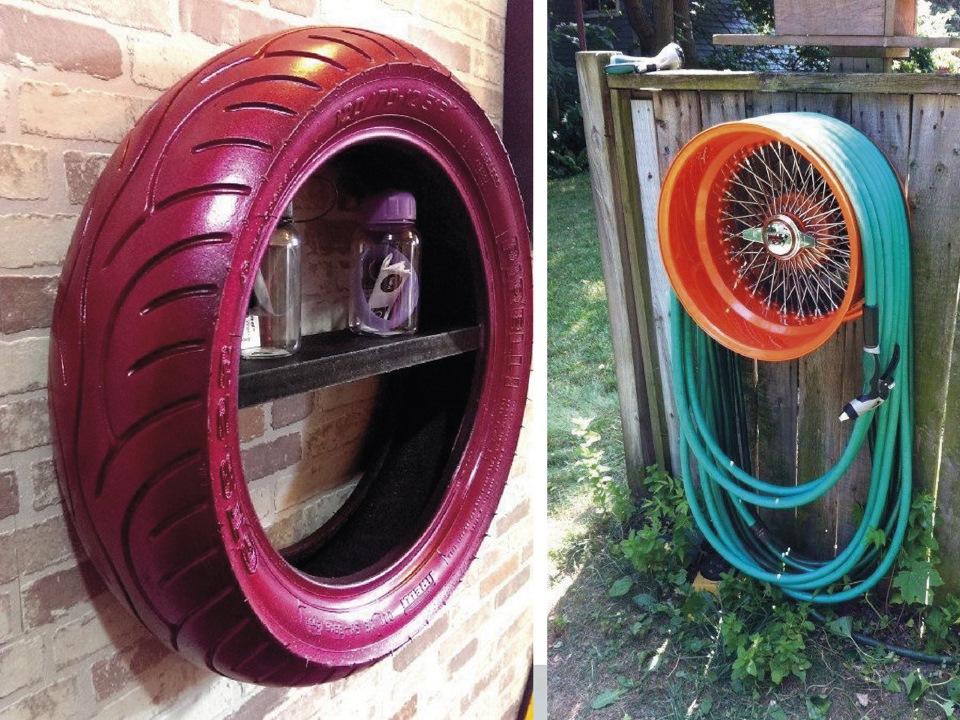 Поделки из колесных дисков своими руками фото