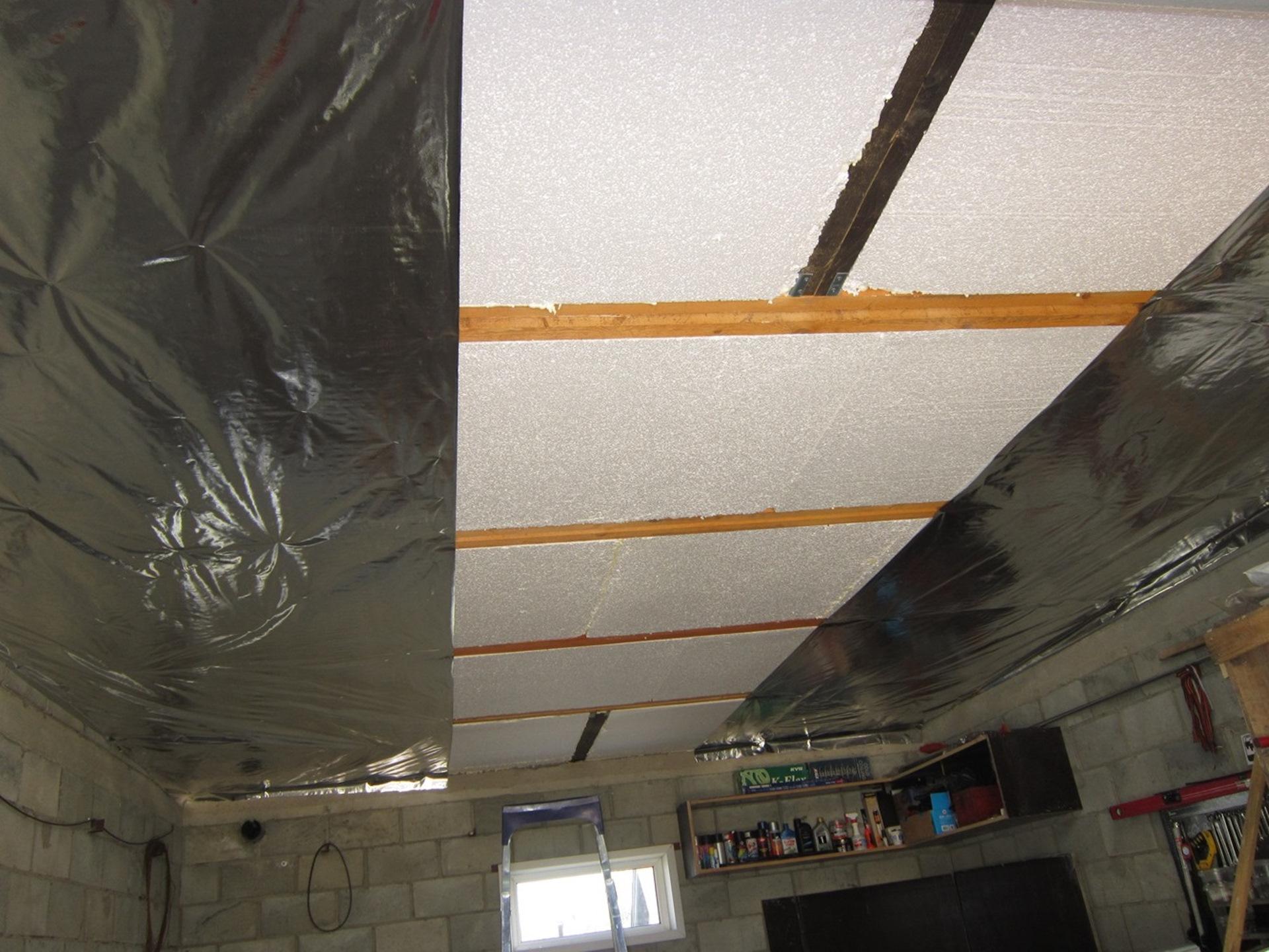 Сделать потолок в гараже