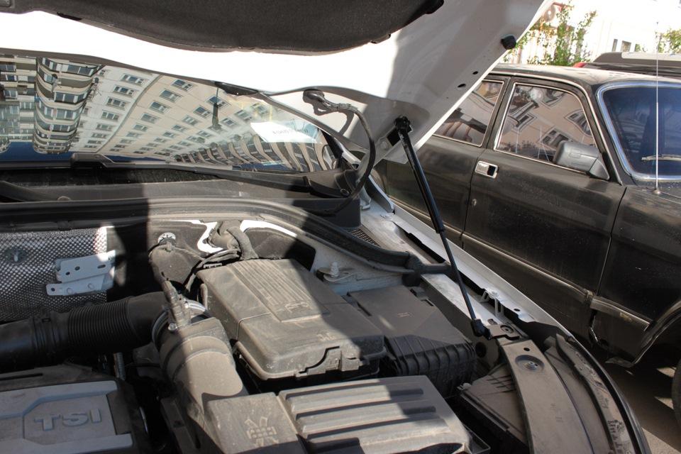 002 Упоры капота Logbook Volkswagen Tiguan Sport Amp R